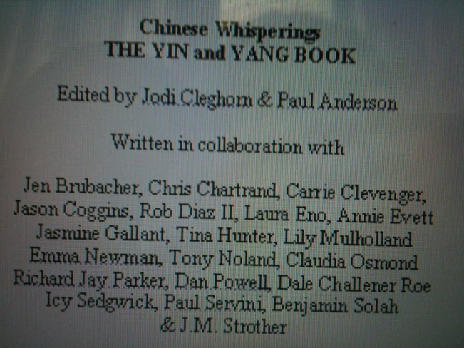 Yin and Yang Contributors