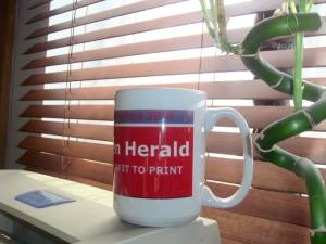 Willesden Herald Prize Mug