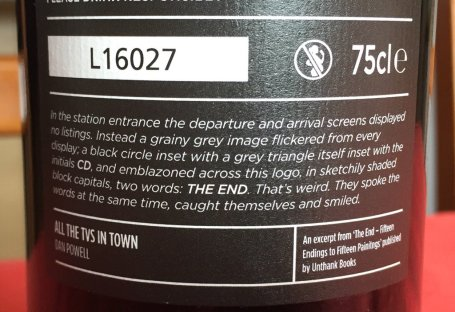 Wine label excerpt